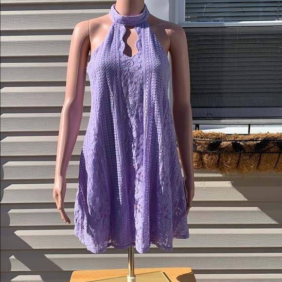Francesca's Collections Dresses & Skirts - Francesca's Purple Lace Halter Shift dress size XS
